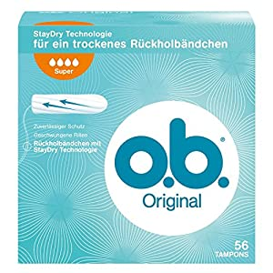 o.b. 0083269 Original Super Tampons - 56-Piece