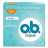 o.b. Original Super Tampons mit geschwungenen Rillen/Für zuverlässigen Schutz ideal für starke Tage/56er Pack