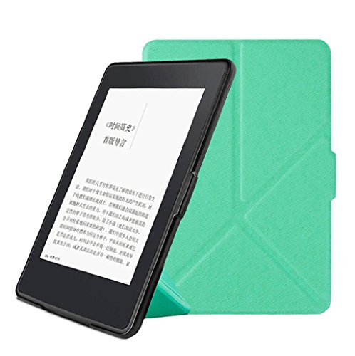 Sannysis Para Kindle 7th Gen 2016 magnética caso y fundas de cuero de la PU + Lápiz táctil + Protector de Pantalla (Menta Verde)