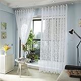 GUOCAIRONG® Gestickter bloßer Tüll-Vorhang für Wohnzimmer-Schlafzimmer Weißer Voile Vorhang-Gewebe-Vorhänge für Fenster 1pcs , 1.5*1.8m