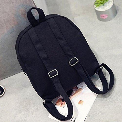 Longra Donna Sacchetto doppio, sacchetto di fragola di colore puro Nero