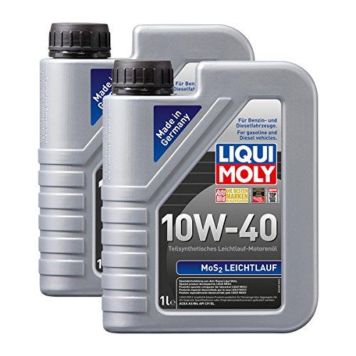 2x LIQUI MOLY 1091 MoS2 Leichtlauf 10W-40 Motoröl 1L