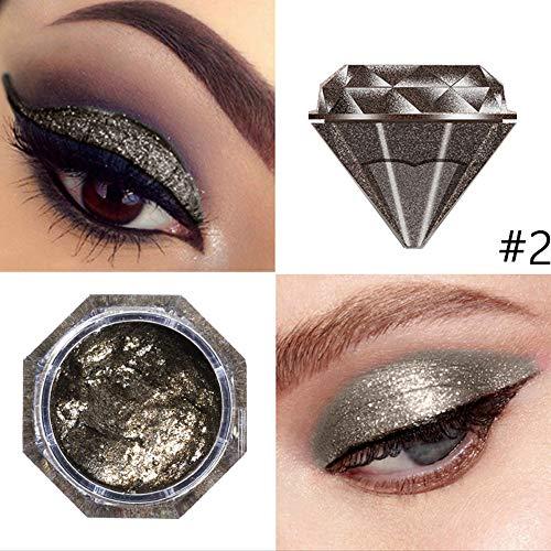 Yazidan 6 Farben Eyeshadow Jelly Gel Highlighter Make Up Shimmer Face Glow Lidschatten Puder-Lidschatten mit schimmerndem Finish – Für intensive Effekte und den perfekten Augen-Look