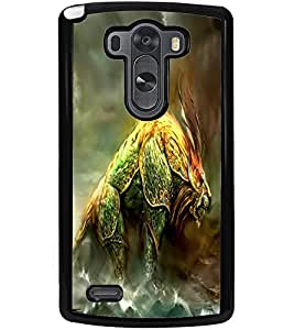 ColourCraft Fantasy Animal Design Back Case Cover for LG G3
