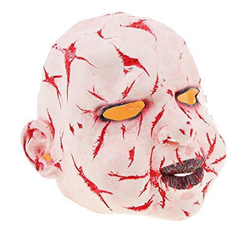 ormaske Zombiemaske Clown Latexmaske Hexe Maske für Damen und Herren, Kostümstütze Halloween Props zum Kostümparty Cosplay Party Spukhäuser und Bar - Blutiger Geist ()