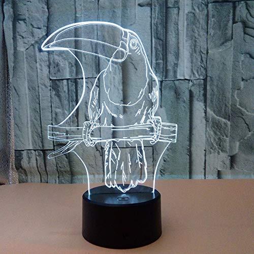 mpe LED Nachtlicht,7 Farben Blinken Berührungsschalter Schreibtischlampe für Kinder Acryl Flat,ABS Base,USB Kabel,9 Lichtquelle Langer Mund ()