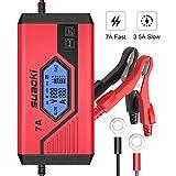 Suaoki - Cargador de Baterias Coche 7 Amp /12V, Mantenimiento Automático e...