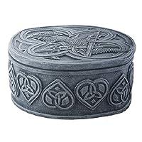 YTC Summit International Celtic Knots Dragon Embossed Jewelry Trinket Box Fairy Tale Fantasy Mythical New