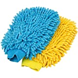 Auto Hub Microfiber Car Cleaning Washing Gloves (Pack of 2)