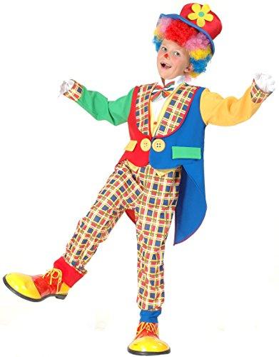 kostüm Zirkus bunt 104/116 (4-6 Jahre) (Süßes Clown-kostüm)