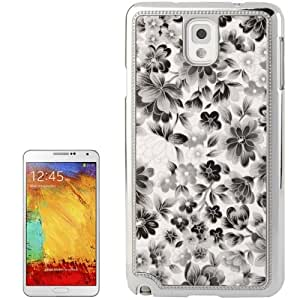 Flower Pattern Plating Skinning Plastic Case for Samsung Galaxy Note 3 N9000 in Black