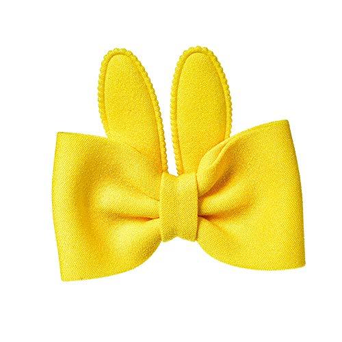Lucky Mall Ostern! Erwachsene Kinder niedlichen Kaninchenohren beugen Haarnadel, Cartoon Hairband Party Zubehör Schönheitsprodukte - Chakra-anhänger Gelbe