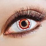 Weiße Halloween Kontaktlinsen rot zum Zombie Kostüm / weiche farbige Jahreslinsen