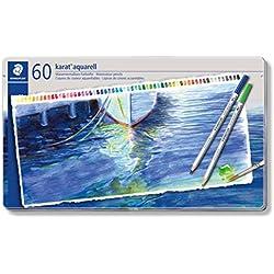 Staedtler Karat 125 M60 - Pack de 60 lápices de color acuarelables, colores surtidos