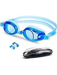 EVEREST FITNESS Schwimmbrille mit praktischer Aufbewahrungsbox und Antibeschlag-Schutz für einen guten Durchblick, größenverstellbar und extra dicht | 2 Jahre Zufriedenheitsgarantie