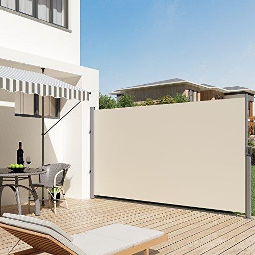 + SONGMICS Tenda Laterale 200 x 350 cm (A x L), per Balcone e Terrazzo, Protezione Privacy, Parasole, Separatore, Beige, GSA205E prezzo