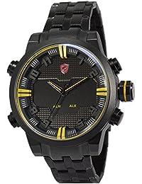 Shark SH198 - Reloj para hombres, correa de acero inoxidable color negro