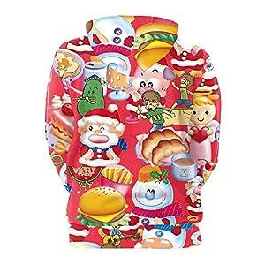 SUMTTER Weihnachten 3D Drucken Kapuzenpullover Unisex Weihnachtsmann Damen Herren Hoodie Xmas Pullover