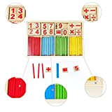 #7: Counting Sticks Box Set Montessori Wooden Number Maths Sticks Teaching Aids Game Materials Educational Toy