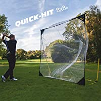 Quick Play Sport  kickster academy quick hit 8 golf driving/chipping red ultra portable golf red -,8 x 8 ft amarillo