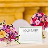 Partycards 50 Tischkarten/Platzkarten DIN A7 für Hochzeit, Geburtstag, Kommunion, Taufe (DIN A7, Rahmen Grün) - 2