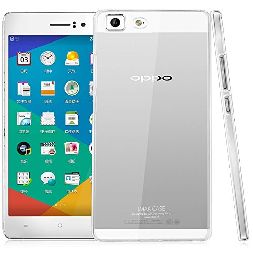 Heartly Imak Crystal Clear Hot Transparent Flip Thin Hard Bumper Best Back Case Cover For Oppo R5  available at amazon for Rs.299