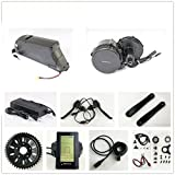 48V 500W Bafang 8fun Mittelmotor Conversion Kits + 48V 11.6AH Down Tube ATLAS Frame Case Panasonic Cell Battery with 2A Charger