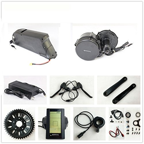 36V 500W Bafang 8fun Mittelmotor Conversion Kits + 36V 12.5AH Down Tube ATLAS Frame Case iFunMobi Cell Battery with 2A Charger