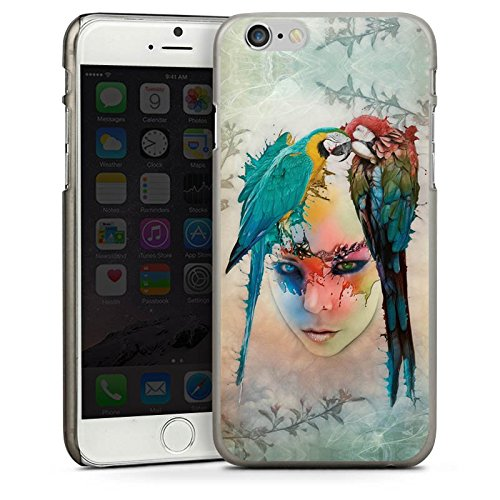 Apple iPhone 5 Housse Étui Silicone Coque Protection Perroquet Oiseau Ressort CasDur anthracite clair