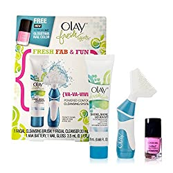 Olay Fresh Effects {Va-Va-Vivid} Powered Contour Cleansing System With COVERGIRL Glosstinis Nail Color