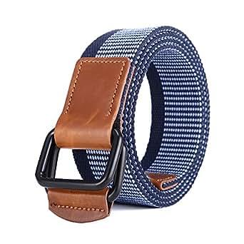 heiß-verkauf echt größte Auswahl von 2019 feinste Auswahl MIJIU Stoffgürtel für Damen und Herren Canvas Belt mit Doppelter D-Ring  Schnalle