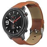 htfrgeds Cinturino Cinturino in Pelle - per Huami AMAZFIT GTR 47mm Smart Watch Cinturino in Pelle...