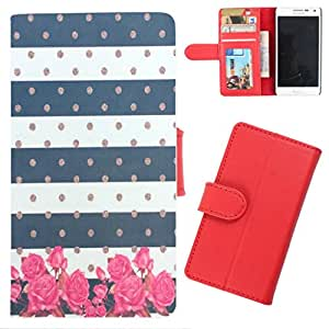 DooDa - For iPhone 4 / 4S PU Leather Designer Fashionable Fancy Wallet Flip Case Cover Pouch With Card, ID & Cash Slots And Smooth Inner Velvet With Strong Magnetic Lock