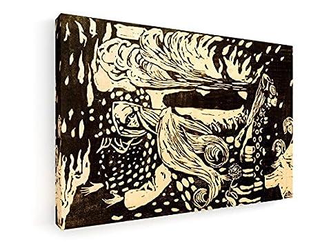 Wassily Kandinsky - Fuga - Holzschnitt 1907 - 75x50 cm - Leinwandbild auf Keilrahmen - Wand-Bild - Kunst, Gemälde, Foto, Bild auf Leinwand - Alte Meister / (Russische Folklore Kostüme)