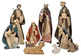Riesige Krippenfiguren Weihnachten Handbemalt 10 Stück