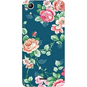 Casotec Vintage Floral Design Hard Back Case Cover for Micromax Canvas Selfie Lens Q345
