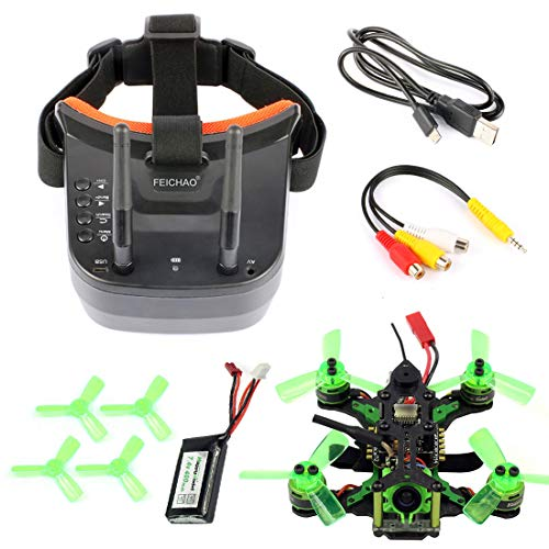 FEICHAO Mantis85 85mm FPV Racing Drone Quadcopter BNF con fotocamera 600TVL Mini Video Goggles per FLysky