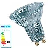 5 Stück Halogenlampen GU10 35 Grad 50 Watt 64824 230 Volt Halopar 16 - Osram