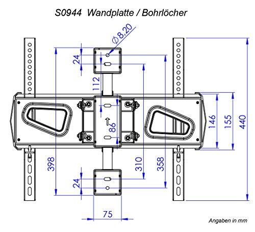 preisvergleich ricoo wandhalterung tv schwenkbar neigbar s0944 willbilliger. Black Bedroom Furniture Sets. Home Design Ideas