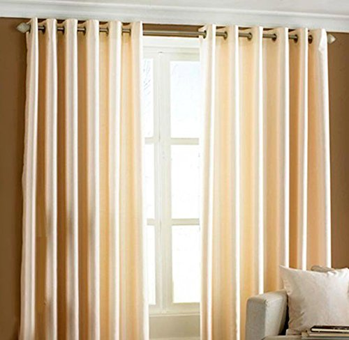 Home Candy Solid 2 Piece Polyester Long Door Curtain Set - 108