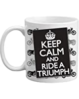 Keep Calm And Ride A Triumph Classic Motorcycle Gift Mug