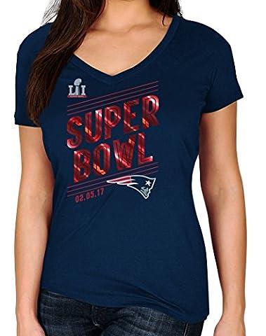 New England Patriots Women's Majestic NFL Super Bowl LI 51