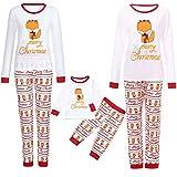 Weihnachten Familie Set Mama Papa Baby Fuchs Brief Bedruckt Top+Schlafanzughosen 2PC Familie Pyjamas Schlafanzug Nachtwäsche Familien Outfit