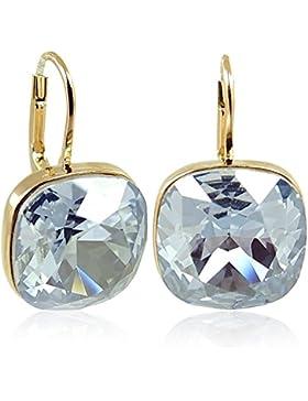 Ohrringe mit Kristallen von Swarovski® für Damen - Viele Farben - Gold - NOBEL SCHMUCK …
