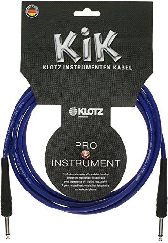 Klotz KIK3-0ppbl Instrument Kabel, 1/10,2cm auf gerade, 10', blau -