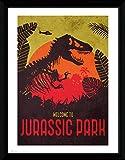 1art1 Jurassic Park Poster De Collection Encadré - Silhouette (40 x 30 cm)