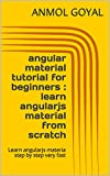 Angular Material is a UI component library for Angular JS developers. Angular Material components help in constructing attractive, consistent, and functional web pages and web applications while adhering to modern web design principles like browser p...