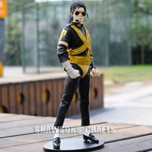 "King of Pop Michael Jackson Doll 12"" Figure Dangerous World Tour Version Statue"