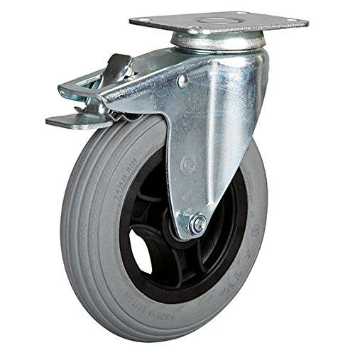 Lenkrolle mit Feststeller 150 mm Luftrad mit Kunststoff-Felge -