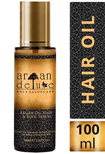 Argan Deluxe Haaröl in Friseur-Qualität 100 ml - Geschmeidigkeit, Glanz und toller Duft für Haare und Haut